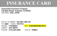 Example Insurance Card